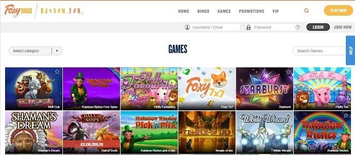 games Foxy Bingo