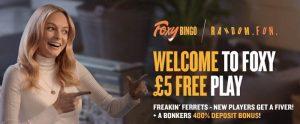 Foxy Bingo welcome bonus