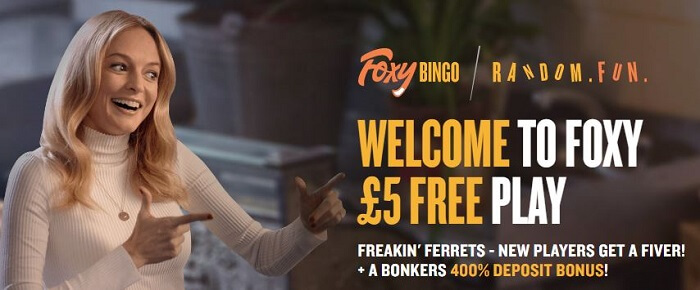 Foxy Bingo welcome bonus