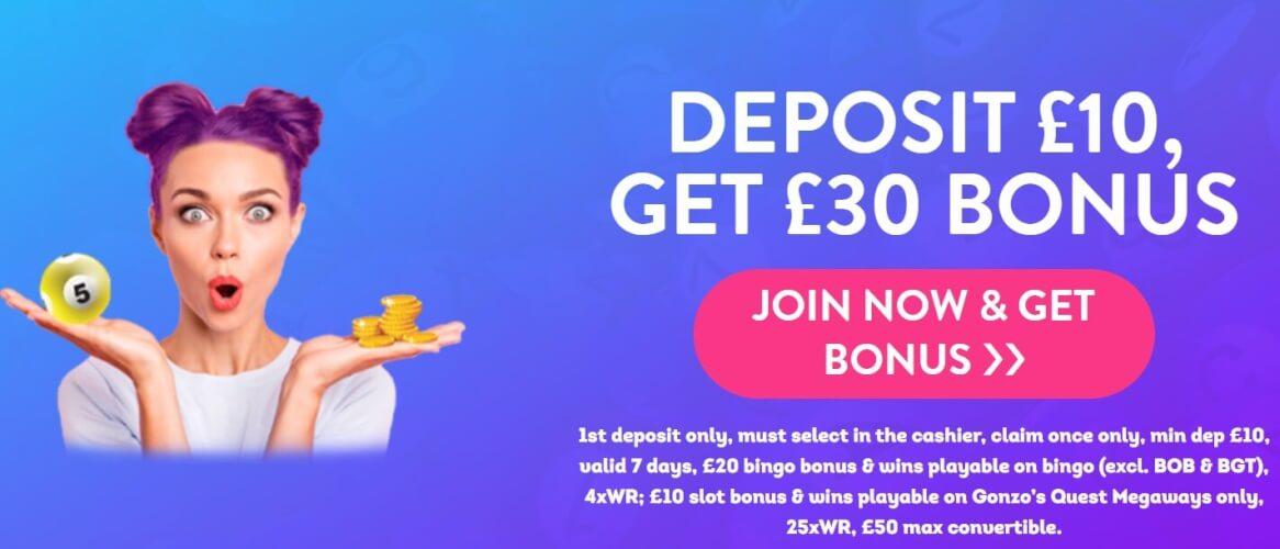 Lucky Pants bingo offer