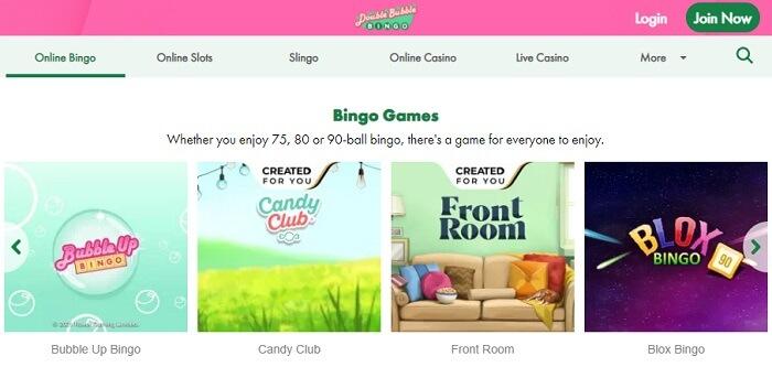 Double Bubble Bingo Games