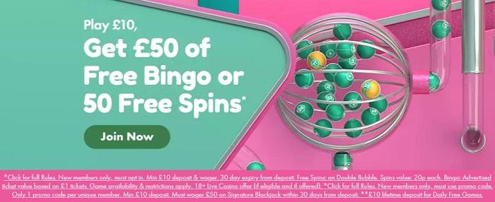Double Bubble Bingo Sign Bonus